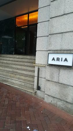 ARIA Restaurant: front door