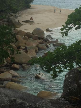 Fitzroy Island Resort: Lookin Down at Nudy Beach