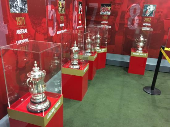 Arsenal Stadium Tours Museum Fa Cup Room