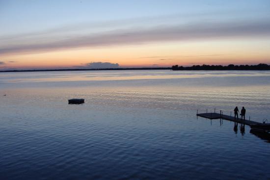 Sandbanks Beach Resort: The sunset from trailer