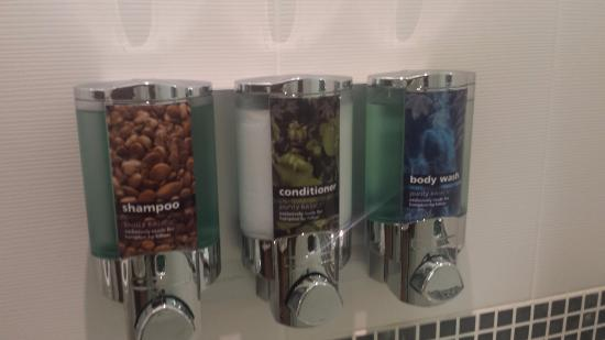 Hampton By Hilton London Waterloo Shampoo Conditioner Body Wash Dispenser Next To Shower
