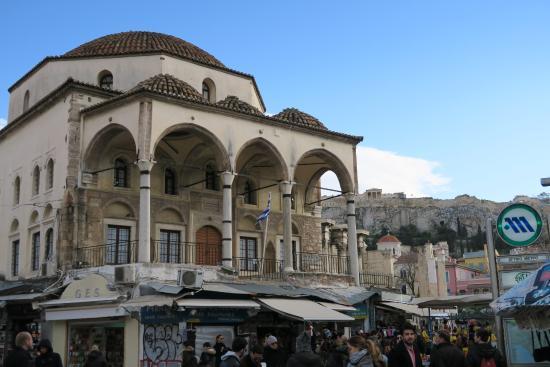 Vista da Monastiraki all'Acropoli
