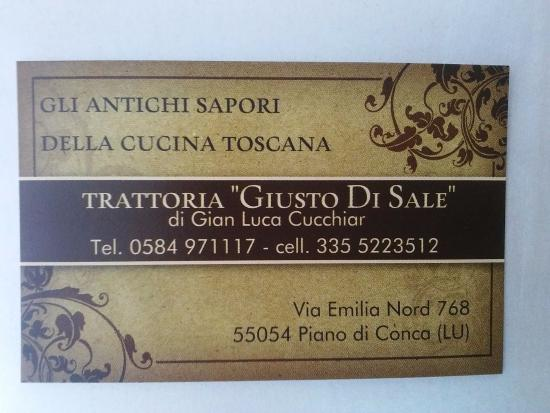 Stiava, Italia: Biglietto da visita