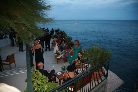 Santa Caterina Hotel: Cocktail terrace