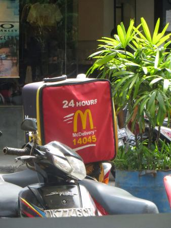McDonald's: Saw the Delivery Bag on a Motorbike when taking a break inside McDs after a busy day shopping