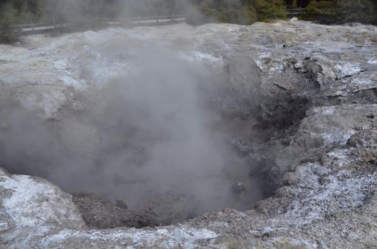 Wai-O-Tapu Thermal Wonderland: Es qualmt und stinkt