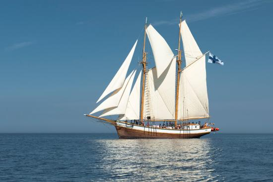 Luvia, Finland: Wooden traditionally built schooner Ihana was launched 2010