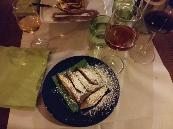 Osteria del Borgo: Cantucci con Vinsanto