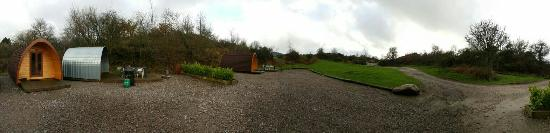 Dalbeattie, UK: Panoramic of the posh pod area.
