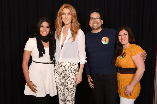 We just not went to her concert but we got to meet and greet celine celine dion at the colosseum at caesars palace we just not went to her concert m4hsunfo