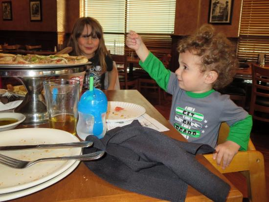 Sal's Italian Restaurant and Pizzeria: Enjoying his meal