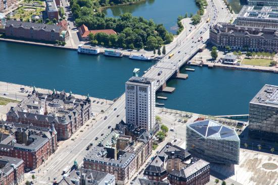 Danhostel Copenhagen City: Picture of the hostel taken from the air