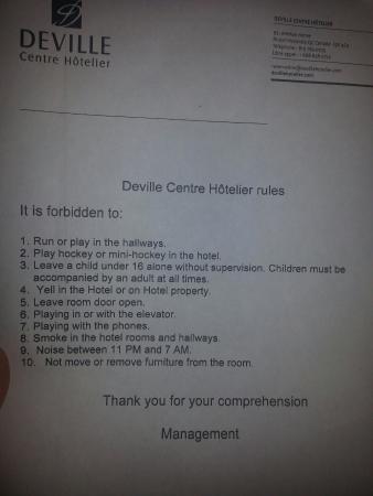Centre Hotelier Deville: 20160110_101621_large.jpg