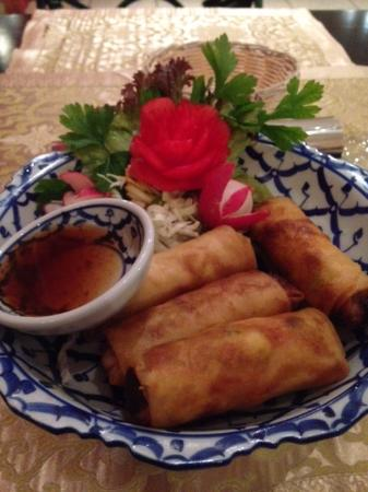 Can Thai at Fortina Spa Resort : Vege Spring Rolls