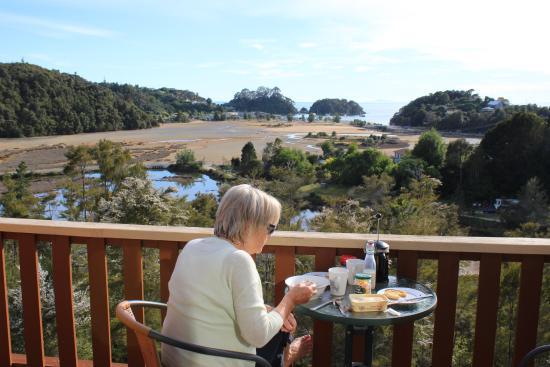 Kimi Ora Eco Resort: view from balcony