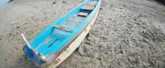 Azhikode, India: an abandoned boat