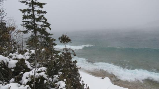 Lion's Head, Canada: winter on the Bruce Peninsula
