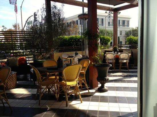 Crescent Hotel Beverly Hills Terrazzo Dove Viene Servita La Colazione