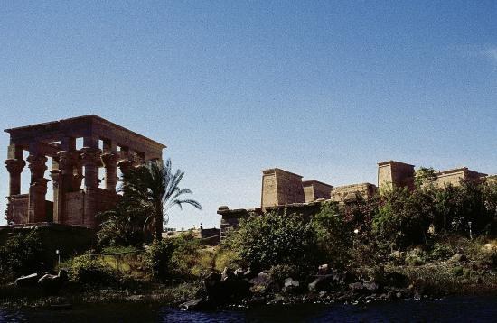 Philae, Ägypten: Il tempio visto dal Nilo