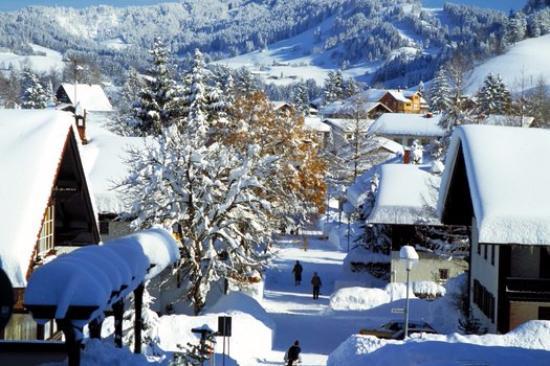 Kur- und Ferienhotel Haser: Oberstaufen vom Balkon aus