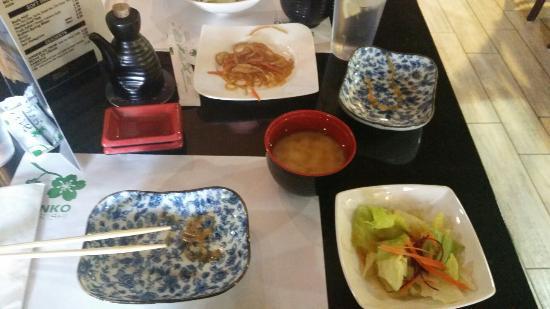 Kenko Sushi: Salad &Miso