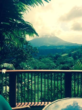 The Springs Resort and Spa: Arenal Volcano from terrace