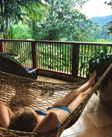 The Springs Resort and Spa: Relaxing on terrace