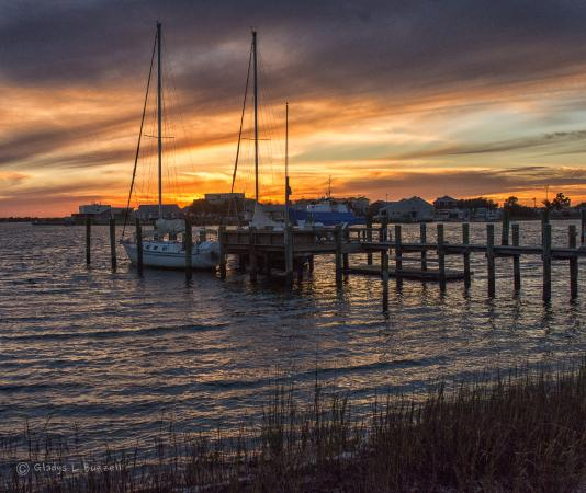 The view from Front ST in Beaufort, NC.