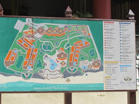 Hotel Map Picture Of Grand Palladium Vallarta Resort Spa