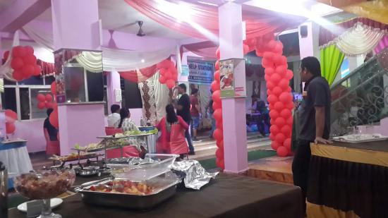 Krishna Hotel : Party in krishna upstairs.