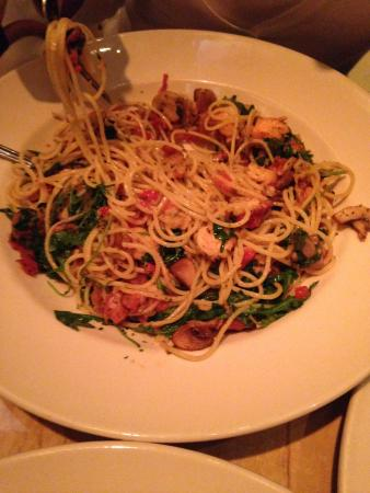 bistro shrimp pasta picture of the cheesecake factory