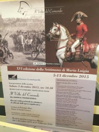 """Museo Lombardi - Marie Louise and Napoleon: Locandina della Mostra """"Il volto del Comando"""""""