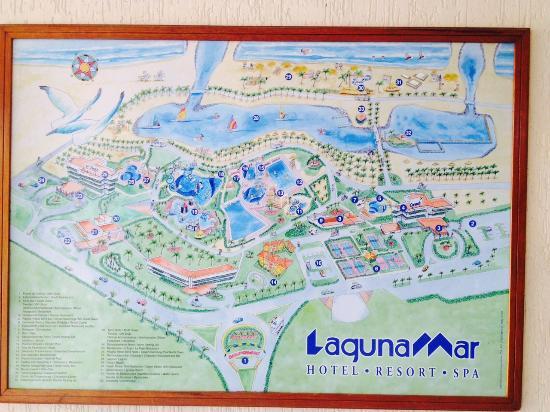 Laguna Mar: Mapa de Instalaciones Lagunamar