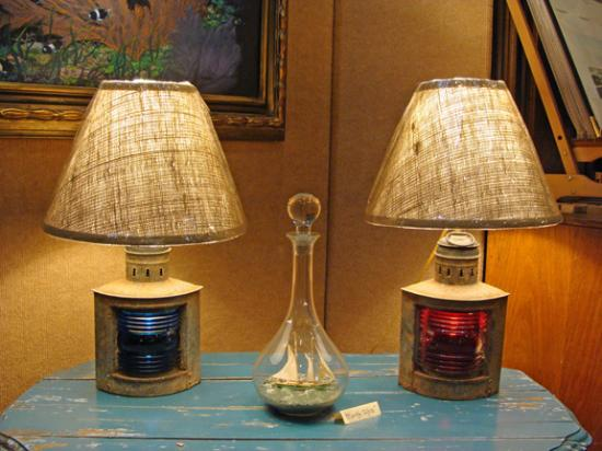Merveilleux Skipjack Nautical Wares U0026 Marine Art Gallery: Port And Starboard Table Lamps  Made From Retired