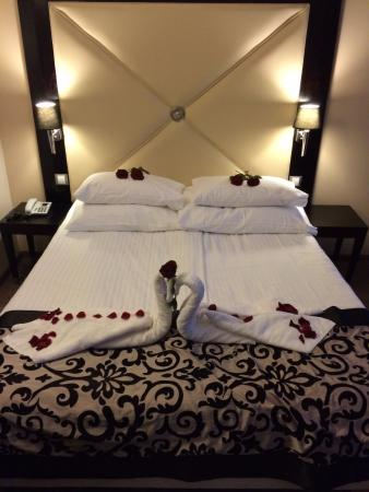 Grandior Hotel Prague Honeymoon Bed Setup