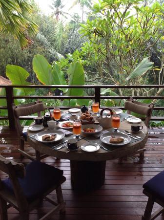 The Purist Villas and Spa: Petit déjeuner servi sur votre terrasse