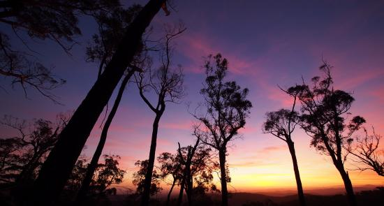 Briagolong, ออสเตรเลีย: Sunset from one of the lookout points on the fire trails