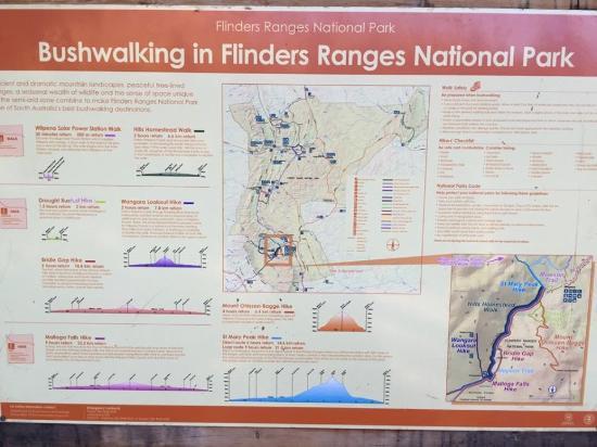 Flinders Ranges National Park, Australia: トレッキングマップ