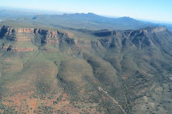 Flinders Ranges National Park, Australie : セスナで上空へ