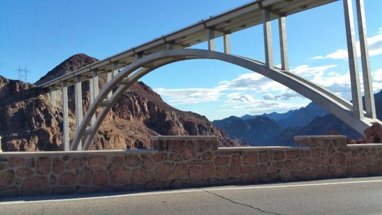 Sam's Town Hotel and Gambling Hall: Pedestrian walkway on this arch bridge above hoover dam