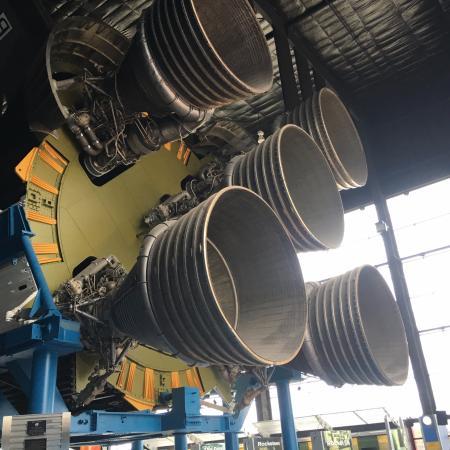 U.S. Space and Rocket Center: base of Saturn V