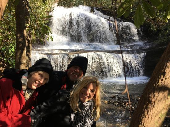 Rosman, Северная Каролина: fantastic falls