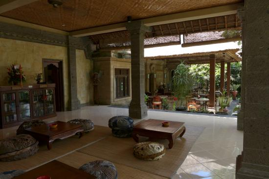 Alam Indah: Open living space and breakfast hall