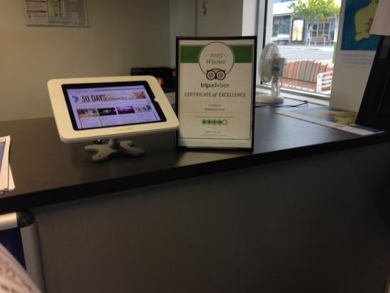 Trip Advisor Award & iPad