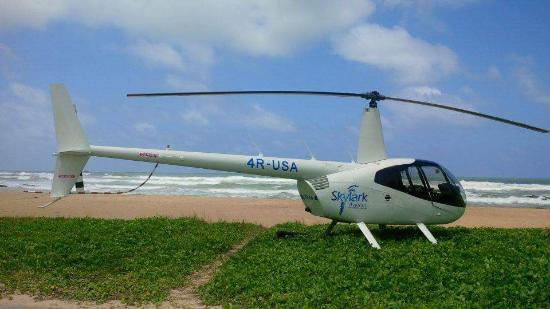 Bentota, Sri Lanka: Skylark Helicopter on ground
