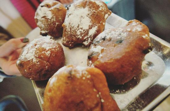 Boutique Hotel View: Oliebol upon Check-In!