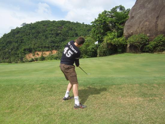 Bophut, Thailand: Myself trying an approach