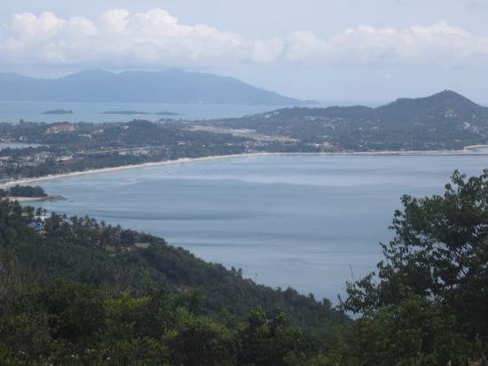 View from Bophut hills