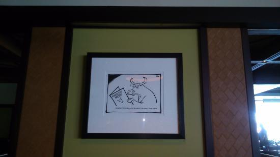 Kingsleys Steak & Crabhouse: Loved the humorous artwork!