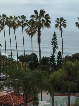 La Valencia Hotel: ocean view from lounge area